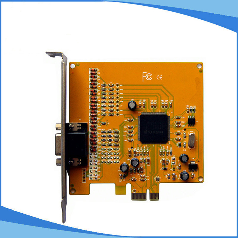 coovision 4 Channel Video Capture Card PCI-E high speed Real Time dvr CCTV<br>