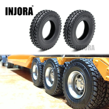 1PCS Rubber Tires for 1:14 Tamiya Tractor Truck RC Climbing Trailer Car Component(China)