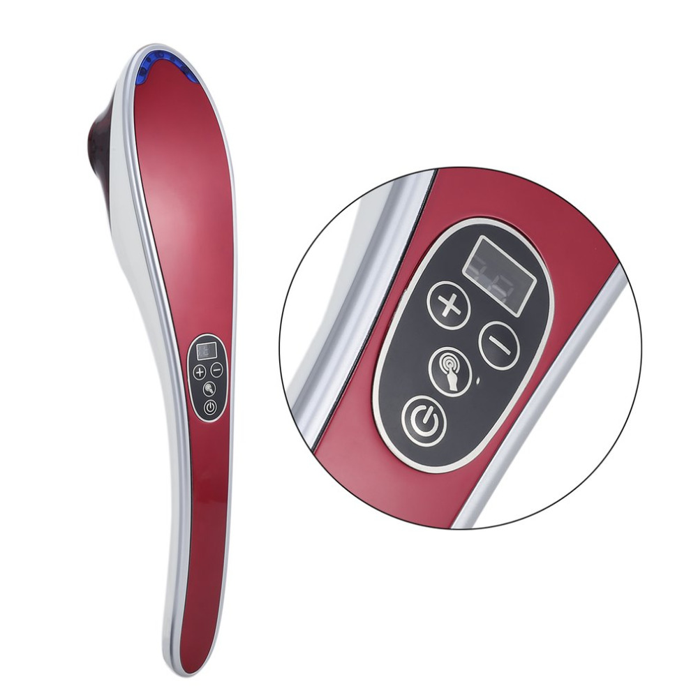 Electric Cervical Vertebra Massager Device Vibrating Kneading Shoulder Back Neck Massager Infrared Massage Body Relaxation New<br>
