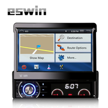 "Single Din 7""TouchScreen Bluetooth Car GPS Navigation Player Car Stereo DVD Audio Player USB SD FM Single DIN Car Radio with Map"