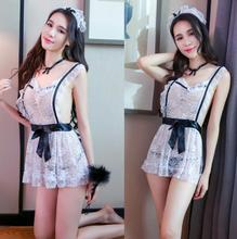 Buy New Maid Uniform Costumes Role Play Women usual Size Sexy Lingerie  Cosplay Sexy Underwear Sex Erotic Costumes Sleepwear Dress