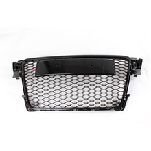 A4 B8 Black Front Bumper Middle Grill Grille For Audi A4 S4 RS4 2009 2010 2011 2012(China)