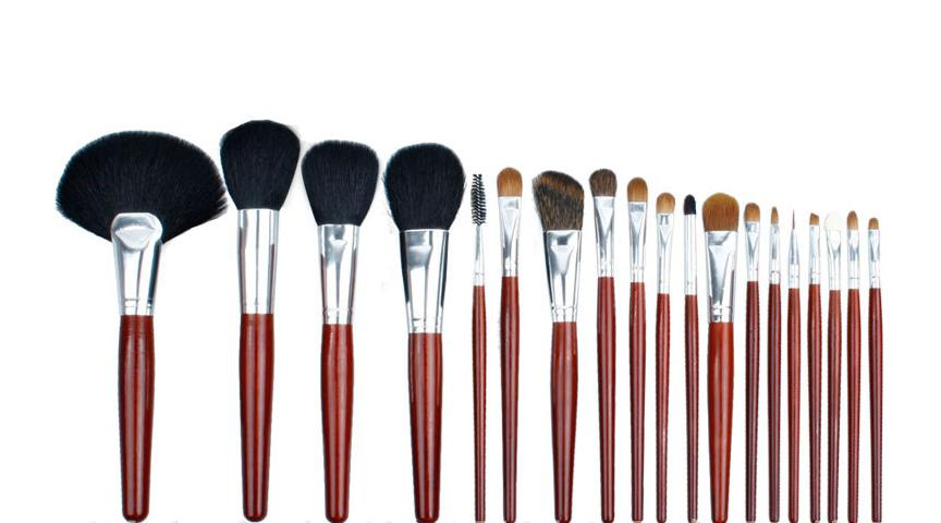 ISMINE Clean Stock 19 pcs Professional Purple Nylon Hair Cosmetic Travel Makeup Brushes Set different types of makeup brushes<br>