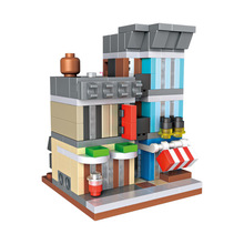 LOZ Mini Blocks Street Shop DIY Building Toys Mini Detective Agency Dream City Scene Buildings Blocks Toys for Children