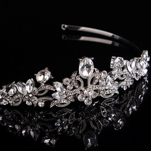 New European style queen temperament crystal hairband tiara crown bridal hair accessories factory direct wholesale(China)