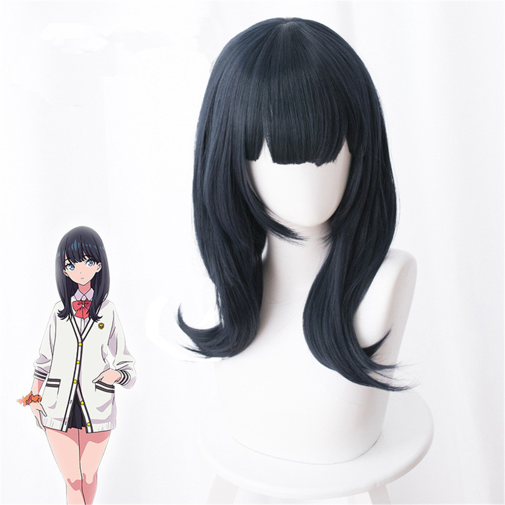 Takarada Rikka Cosplay Wig Anime SSSS.GRIDMAN Role Playing 50cm Long Synthetic Hair
