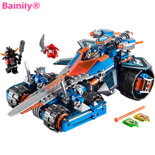 [Bainily]Clay's Rumble Blade Jestro Clay3D blocks Educational model building toys compatible legoINGly Nexus Knights - No.3 QDJJ Store store