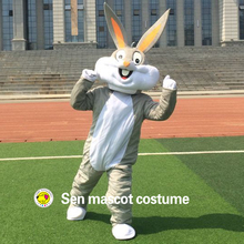 Sell Like Hot Cakes Professional Easter Bunny Mascot costume Bugs Rabbit Hare Adult