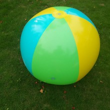 Children's Summer Outdoor Play  Inflatable Water Balls Water Sprayed Environmental Sports Swimming Water Jet Beach Ball
