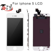 10PCS/LOTNo Dead Pixel Pantalla Display For iphone 5 iphone 5C iphone 5S LCD Screen with Touch Digitizer Assembly Replace(China)