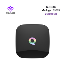 MEMOBOX Q BOX Android 6.0 Smart TV Box S905X Quad Core support UHD 4K H.265 DLNA Airplay Dual band WiFi BT4.0 Set-top box 2G 16G