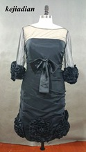 Lebanese fashion designer dress black evening dress vestido de fiesta(China)