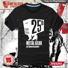 [XHTWCY]  HOT High quality Personalized T-shirts Anime Game Products Metal Gear Solid AceCool LOGO T-shirt MGS 1987-2012