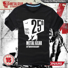 [XHTWCY] HOT High quality Personalized T-shirts Anime Game Products Metal Gear Solid AceCool LOGO T-shirt MGS 1987-2012(China)