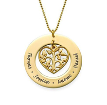 Jewelry Manufacturer Customized Gold Heart Family Tree Necklace