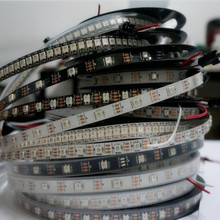 1m/4m/5m Black/White 30/60/144 leds/m WS2812IC 30/60/144 led pixels Addressable DC5V WS2812B Dream Color Smart led strip lights