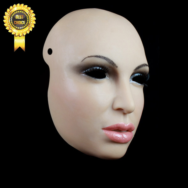 silicone mask movie props,realistic female face masks,SH-8