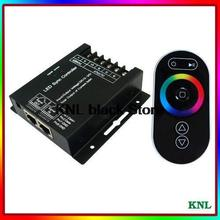 DC12-24V Led RGB touch controller wireless RF remote control, wall-mounted RGB controller box 3 channels for led strip 5050/3528