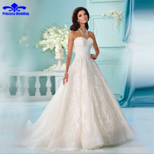 New Fashionable Beaded Sweetheart Lace Sexy A Line Wedding Dress 2017 Natural Backless Vestidos De Novia Romantic Party Mariage