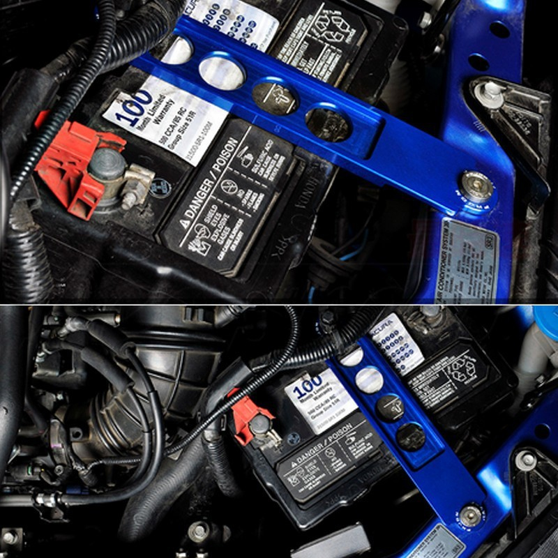 BLUE BILLET ALUMINUM BATTERY TIE DOWN FOR HONDA CIVIC ACURA RSX EP3 DC5 SI