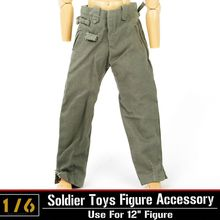 "1/6 Pants Dragon DML WWII German Soldier Army Figures Clothing Accessories Pants Trousers For 12"" Military Action Figure Body"