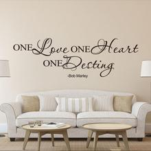 New Qualified 2017 Wall stickers One Love Quote Removable Decal Room Wall Sticker Vinyl Art Home Decor  Levert Dropship dig6824