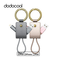 dodocool 2-in-1 MFi Lightning Cable Braided Lightning to USB Cable 0.51ft with Keychain for iPhone X 8 7 6 Plus iPad Air Pro(China)