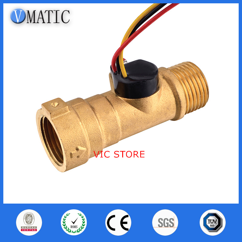New Water Flow Sensor Switch Meter Flowmeter Hall Flow Counter Sensor Water Control Free Shipping Water Flow Sensors<br>