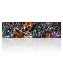 Marvel Comic Book X-Men on X-Men Covers and Panels Panoramic by Marvel Comics Canvas Art Print