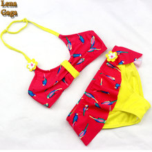 Girls Swimwear Bikini Skirt Bikini Girl Baby Little Kid Swimwear Teenager Floral Bathing Suit Girls Swimsuit Children's Swimwear
