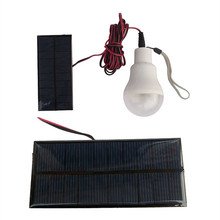 Hot Solar Lamp Powered Portable Led Bulb Lamp Solar Energy Lamp led Lighting Solar Panel Camp Night Travel Used 5-6hours(China)