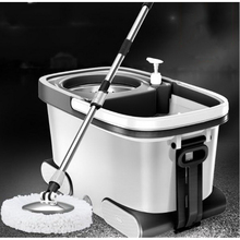 150216/High quality stainless steel mops/Dual drive Household mop bucket/Automatically rotate the mop/Super tough material