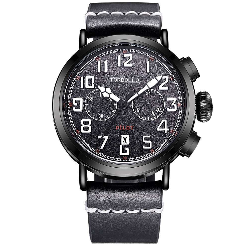 2017 NEW Force Men Watch Sport Style All Black Chronograph Quartz Movt Water Resistant<br>