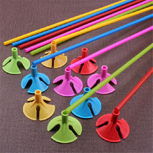 10pcs/lot 32CM Highquality Balloon Accessories Balloon Holder Sticks with Cups Party Supplies Decoration Balloons Holder Sticks
