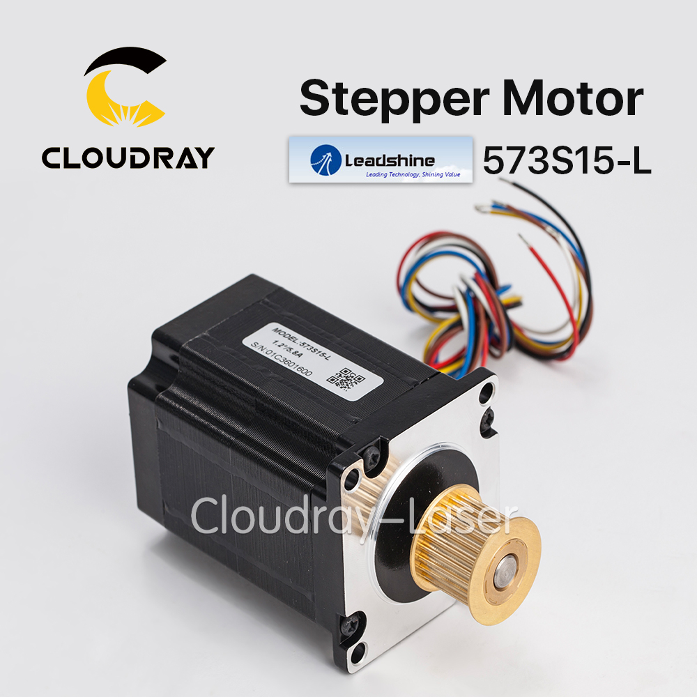 Cloudray Leadshine 3 phase Stepper Motor 573S15-L NEMA23 24 Teeth 3M Timing Pulley for CO2 Laser Engraving Cutting Machine<br>