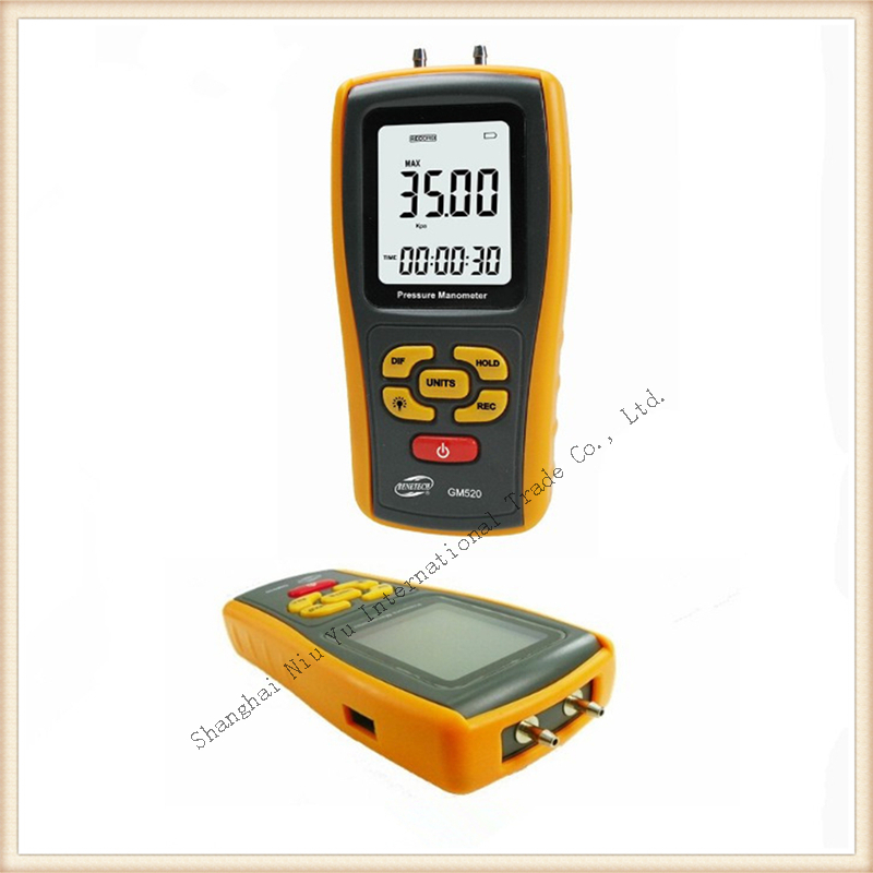 New Style Manometer com with PC software  LCD Display Pressure gauge measure range + - 35kPa Free Shipping<br><br>Aliexpress