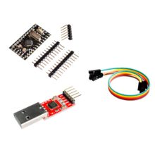 2PCS=1LOT CP2102 Module + 1PCS Pro Mini Module Atmega168 5V 16M For Arduino Compatible With Nano