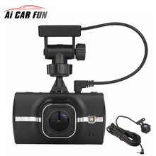 3 Inch Mobile Phone Screen DVR Dual Lens 1296P Dashcam Camera Support Front Car Distance Warning ADAS With GPS Track Playback