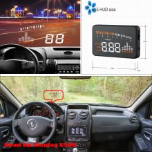 Car Computer Screen Display Projector Refkecting Windshield For Renault Duster - Safe Driving Screen(China)
