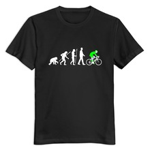 Organic Cotton evolution radfahrer 052012 b 3c men's t-shirt High Quality Home Wear men tshirt