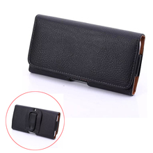 "Fashion PU Leather Waist Belt Pocket Universal Phone Cover Case For Samsung galaxy s3 s4 s5 s6 s7 edge 5.1"" Below Holster Bag(China)"