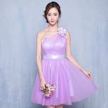junior sweetheart neckline bridemaid dress lilac bridesmaid short dresses for wedding party different styles vintage H3800