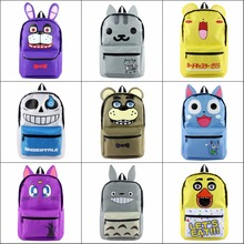 TOTORO Undertale Neko Atsume Card Captor Fairy Tail backpack Large School bag Canvas Travel Bag package Shoulder Bag 10 style(China)