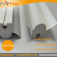 9pcs/lot 900mm 1200mm 1500mm led tubes 72w 60w high bay tubes 4ft supermarket lamp 50w 5ft batten light 40w 3ft retrofit 30w 20w