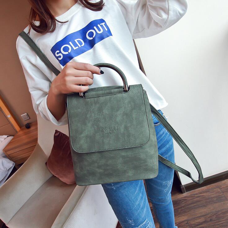 Female Backpack Women PU leather Shoulder Bag For Teenage Girls Fashion Vintage Rucksack Designer School mochila<br><br>Aliexpress
