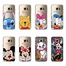 Mickey Minne Cat Soft TPU Silicone Case Samsung S6 Edge S7 S3 S4 S5 Mini Note 3 4 5 A3 A5 A7 J1 J5 J7 2016 Cover - Shenzhen JX international trade co., LTD store