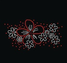 2pcs/lot flower Rhinestones Heat Transfer Design Iron On Motifs patches  hot fix rhinestones motif sticker for shirt bag
