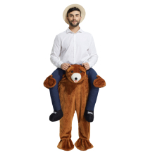 teddy bear Ride On Me Mascot costume Beer people Piggy Back Novelty Fancy Dress Costume for Purim Party Halloween trousers