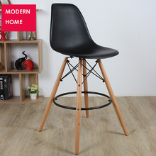 MODERN DESIGN BAR STOOL PLASTIC COUNTER BAR Chair WOODEN PLASTIC side STOOL lOFT CAFE HIGH STOOL CHAIR Seat Height 65cm 1 PC(China)