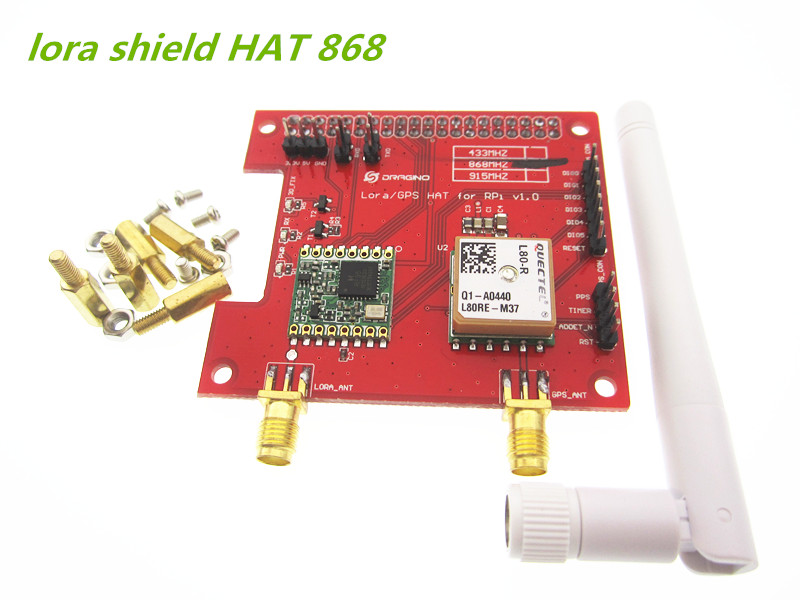 Free shipping  1pcs Long distance wireless Lora Shield Hat 433/868/915Mhz Leonardo, UNO, Mega2560, Duemilanove, Due<br>